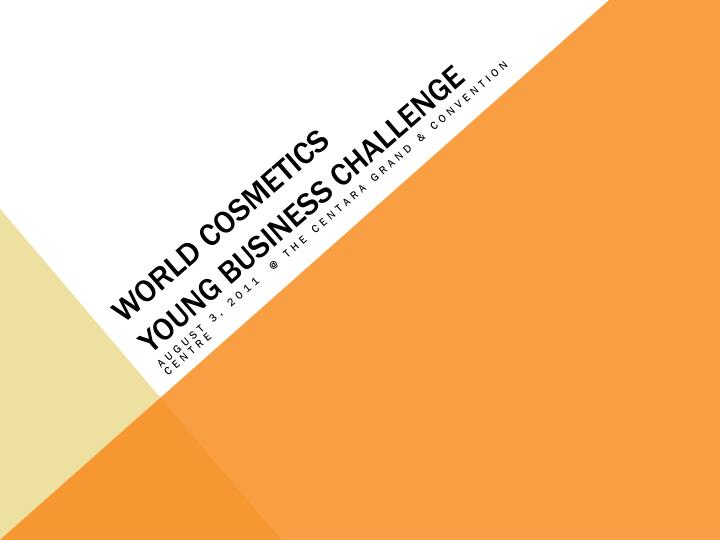 World cosmetics young business challenge