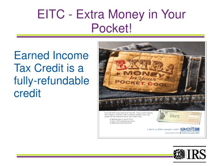 EITC - Extra Money in Your Pocket!