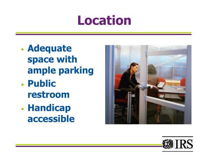 Adequate space with ample parking