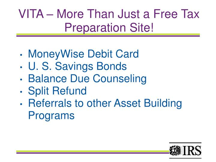 VITA – More Than Just a Free Tax Preparation Site!