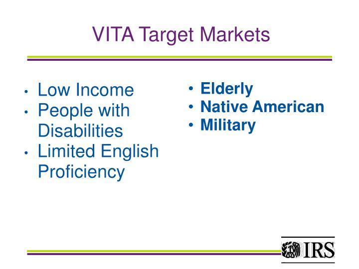 VITA Target Markets