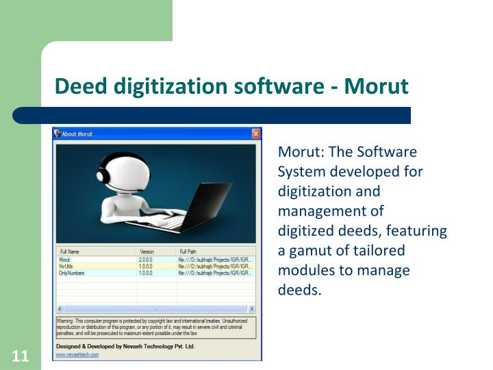 Deed digitization software - Morut