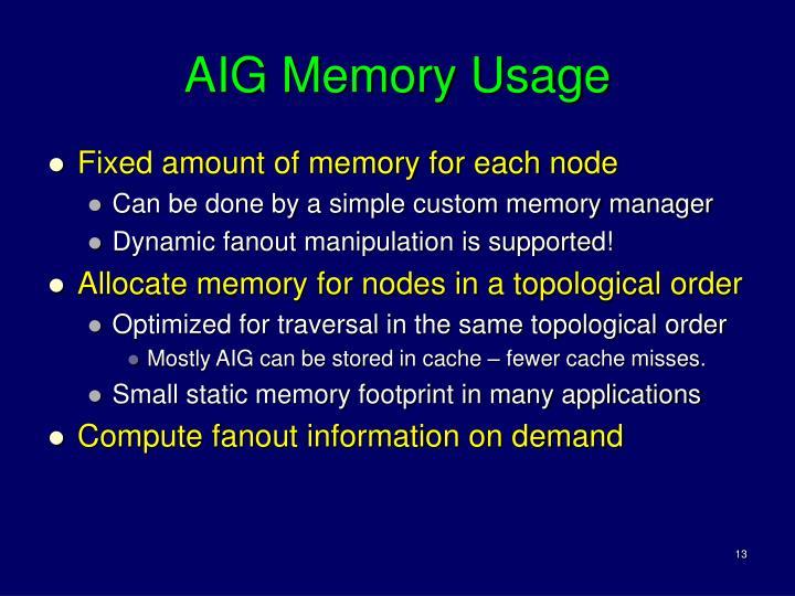 AIG Memory Usage