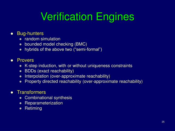 Verification Engines