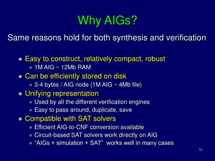 Why AIGs?