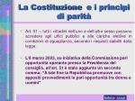 la costituzione e i principi di parit2