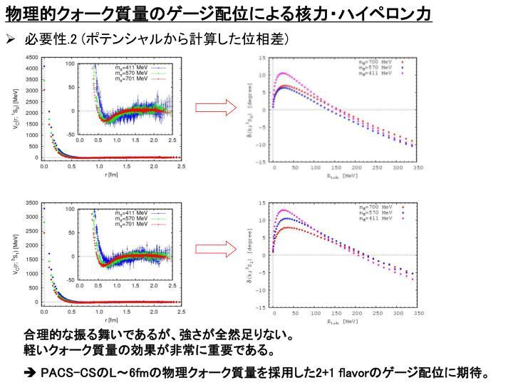 物理的クォーク質量のゲージ配位による核力・ハイペロン力