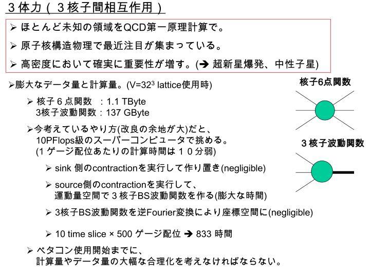3体力(3核子間相互作用)