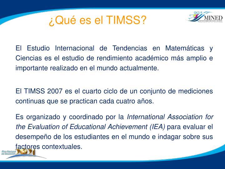 ¿Qué es el TIMSS?