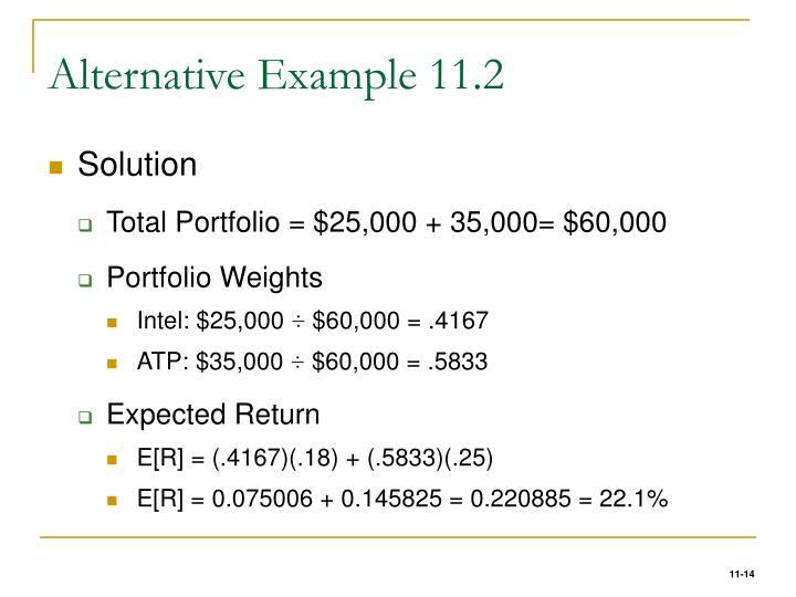 Alternative Example 11.2