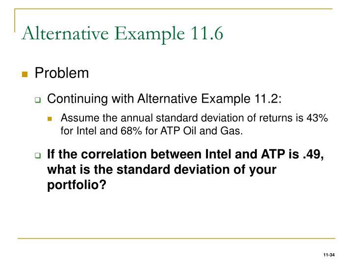 Alternative Example 11.6