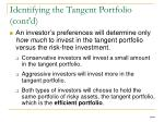 identifying the tangent portfolio cont d2