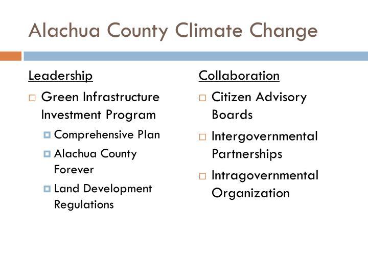 Alachua County Climate Change