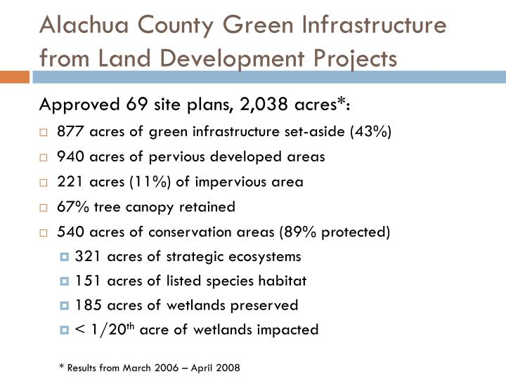 Alachua County Green Infrastructure