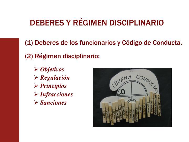 DEBERES Y RÉGIMEN DISCIPLINARIO
