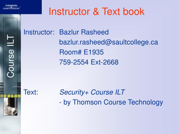 Instructor text book