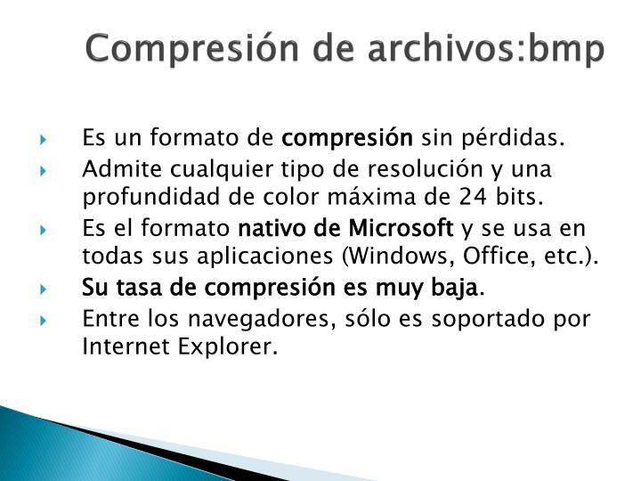 Compresión de archivos:bmp