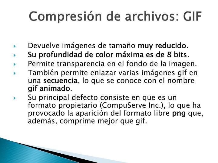 Compresión de archivos: GIF