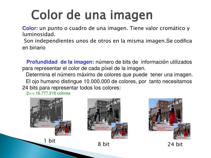 Color de una imagen
