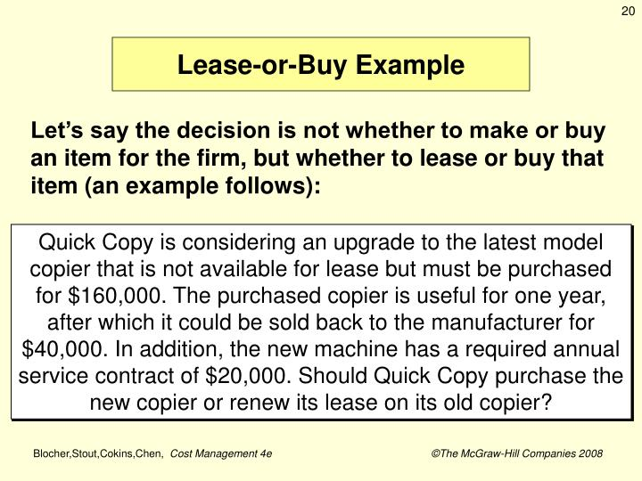 Lease-or-Buy Example