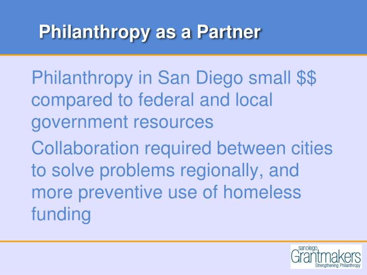 Philanthropy as a Partner
