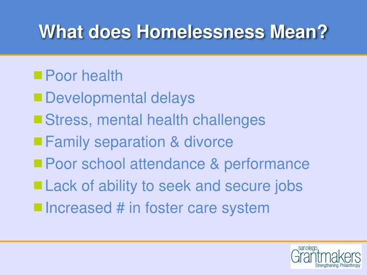 What does Homelessness Mean?