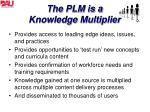 the plm is a knowledge multiplier