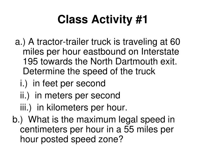 Class Activity #1