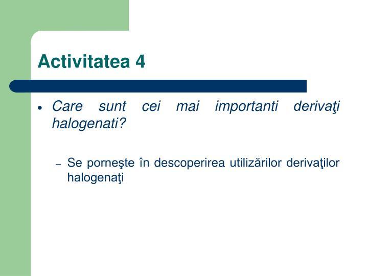 Activitatea 4