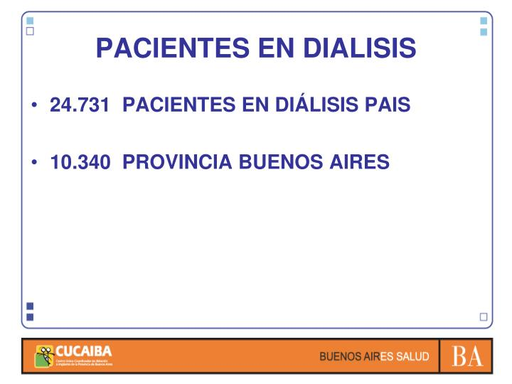 PACIENTES EN DIALISIS