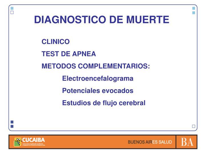 DIAGNOSTICO DE MUERTE