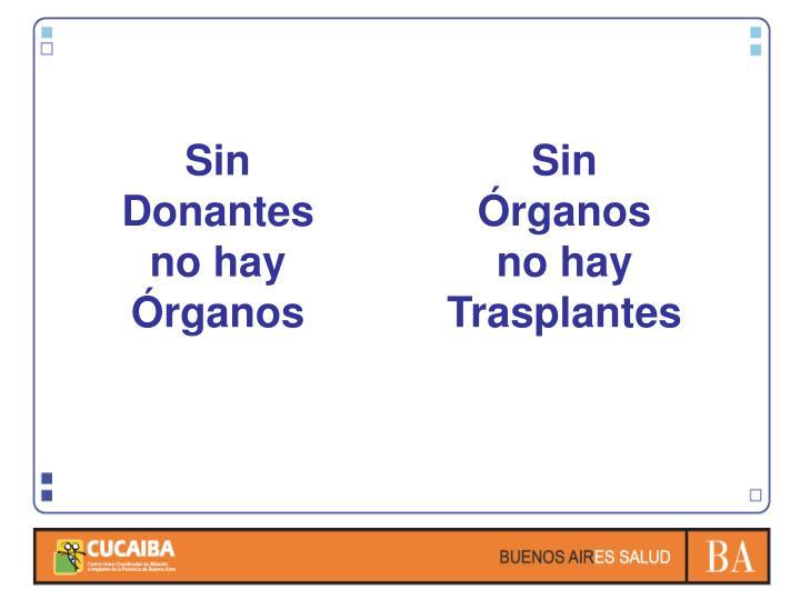 Sin Donantes no hay Órganos