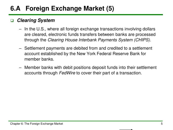 6.A	Foreign Exchange Market (5)
