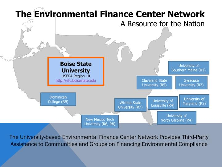The Environmental Finance Center Network