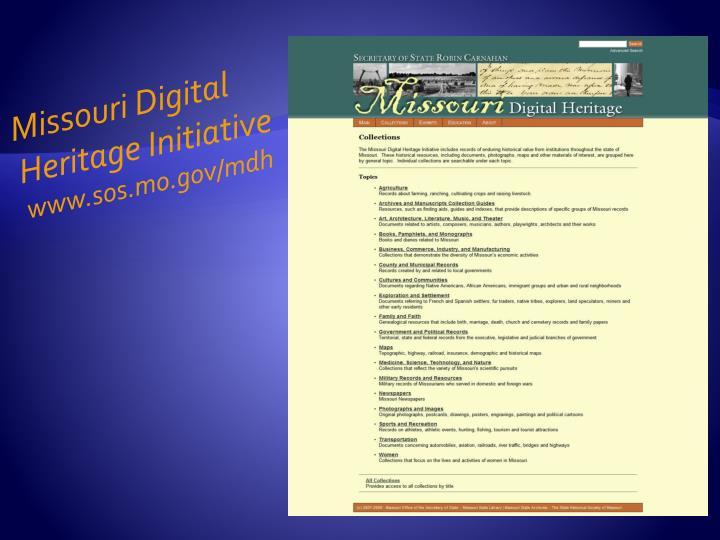 Missouri Digital Heritage Initiative