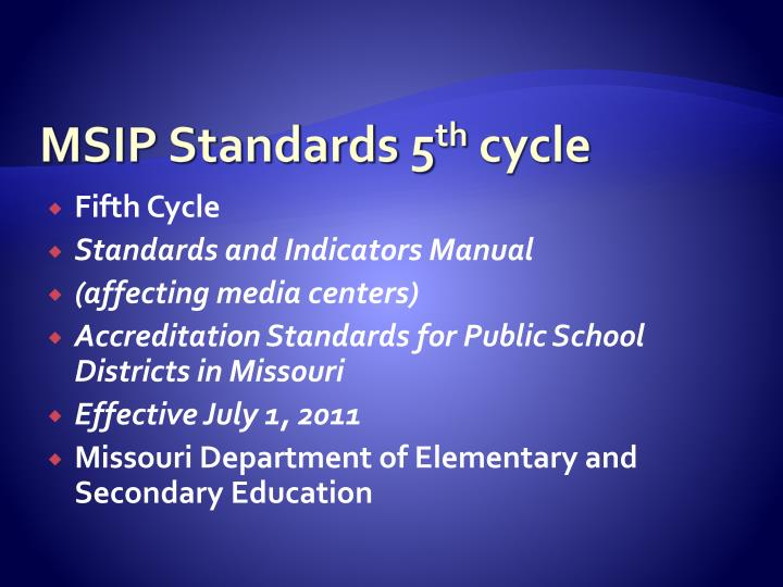 MSIP Standards 5