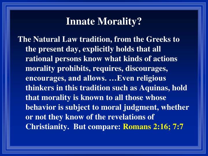 Innate Morality?