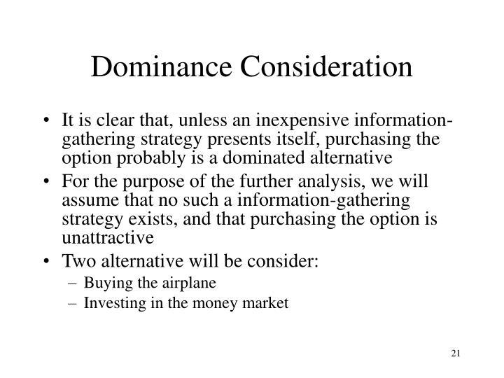Dominance Consideration