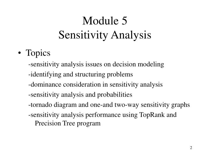 Module 5 sensitivity analysis