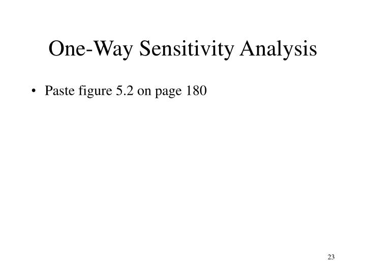 One-Way Sensitivity Analysis