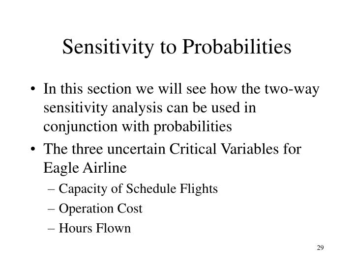 Sensitivity to Probabilities