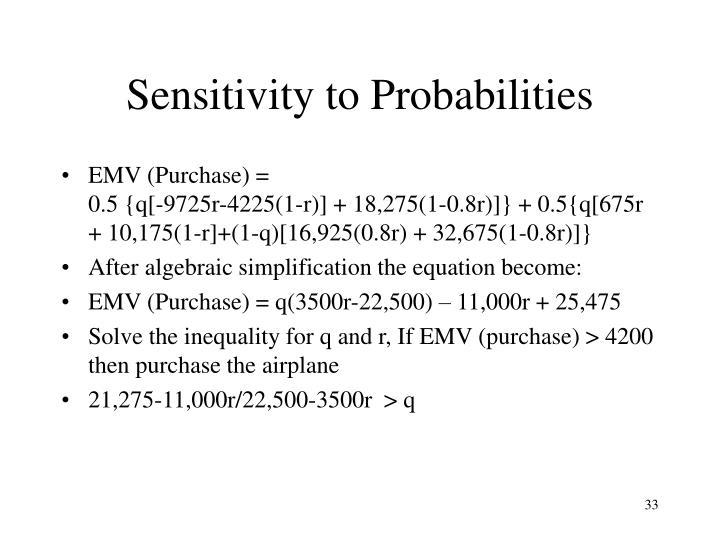 Sensitivity to Probabilities