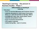 teaching learning the picture in business studies phase 1
