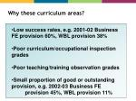 why these curriculum areas