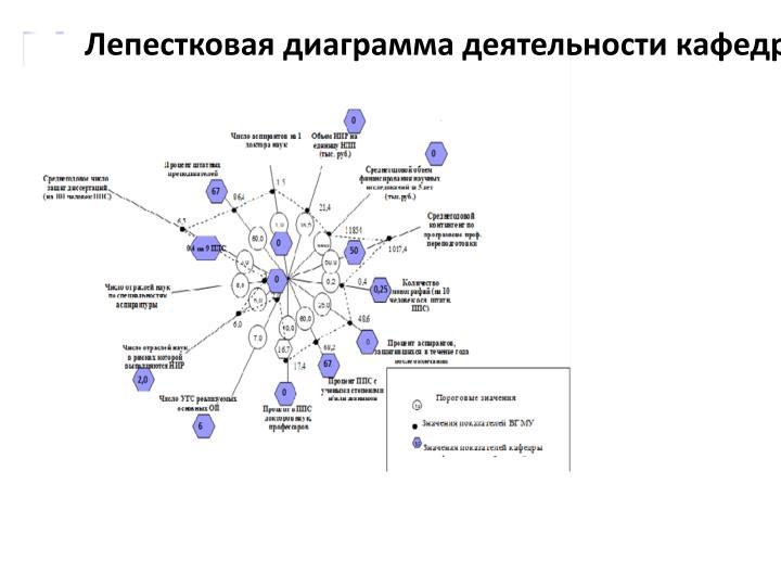 Лепестковая диаграмма деятельности кафедры