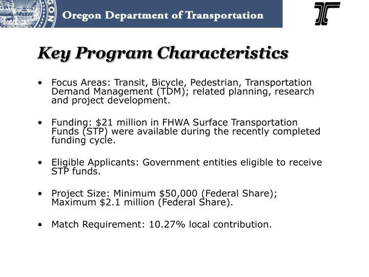 Key Program Characteristics