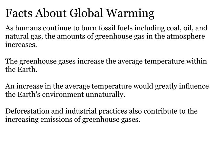 Facts About Global Warming