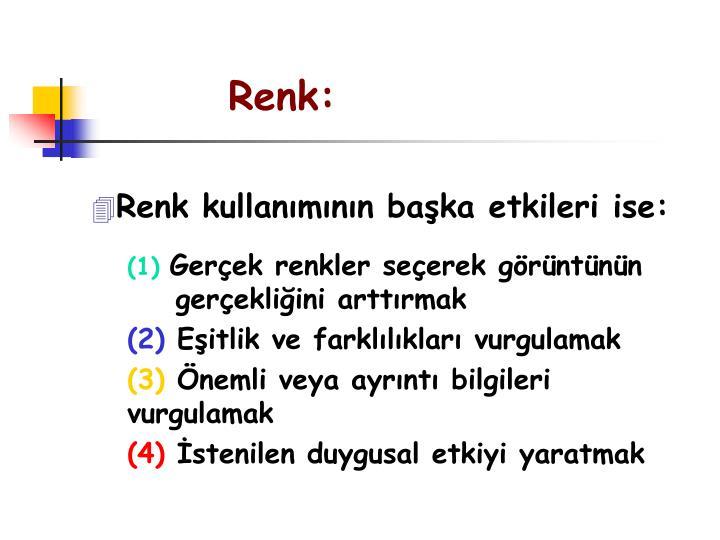 Renk:
