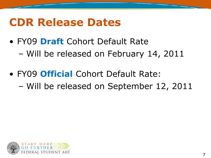 CDR Release Dates