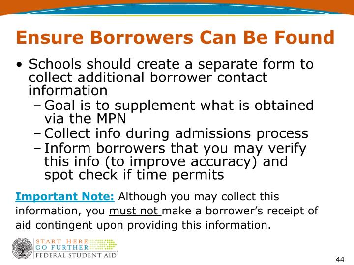 Ensure Borrowers Can Be Found